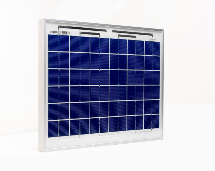 Photovoltaic Panel C-Si Off-grid SOLARPOWER 10W-12V XUNZEL with cable 2+2M SOLZTK10-big