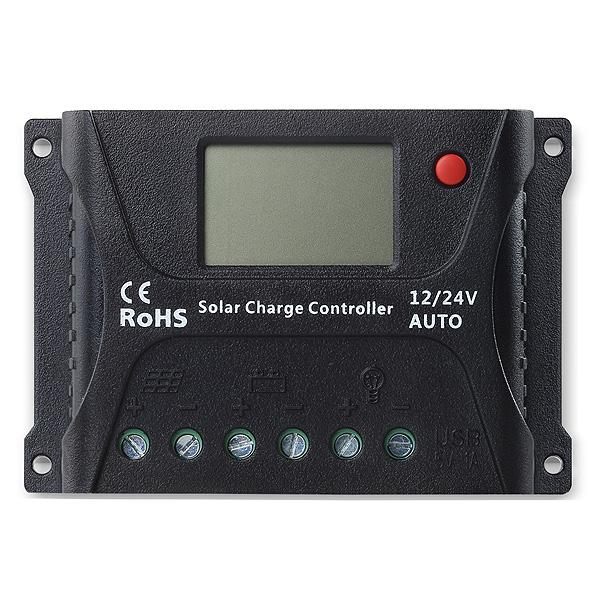 Solar charge controller Powersave PWM 10A 12/24V SR-HP2410-big