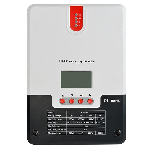 Solar charge controller Powersave MPPT 60A 12/24/36/48V LCD display SR-ML4860-big