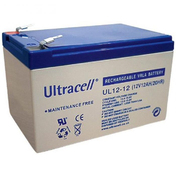 VRLA Battery ULTRACELL 12 V 12 Ah UL12-12-big