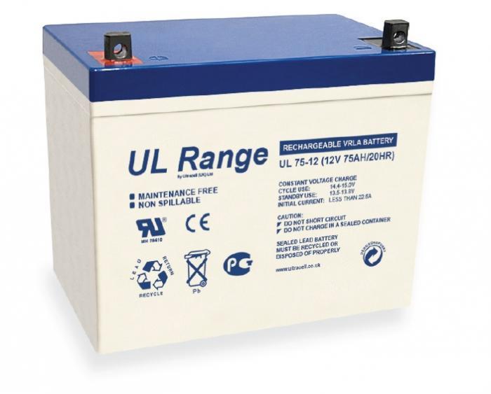 VRLA Battery ULTRACELL 12 V 75 Ah UL75-12-big