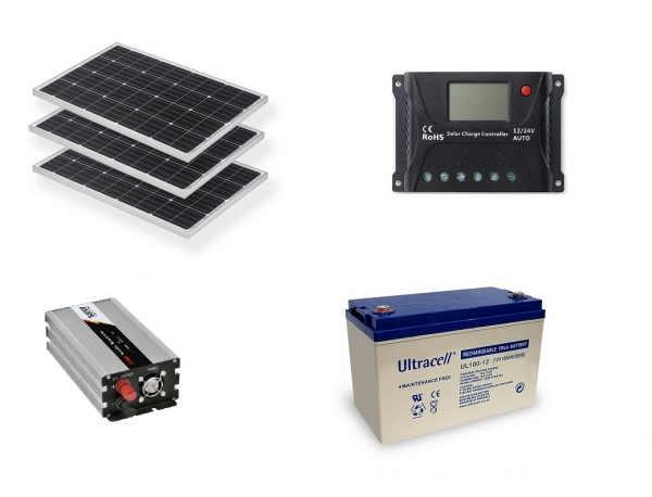 Photovoltaic System Off-grid 0.3kw Poweracu-big