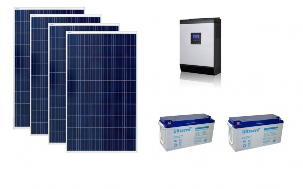 Photovoltaic System Off-grid 1kw Poweracu-big