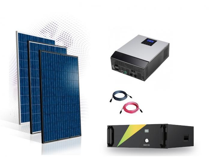 Photovoltaic System Off-grid 6kw with LifePo 100A battery-big