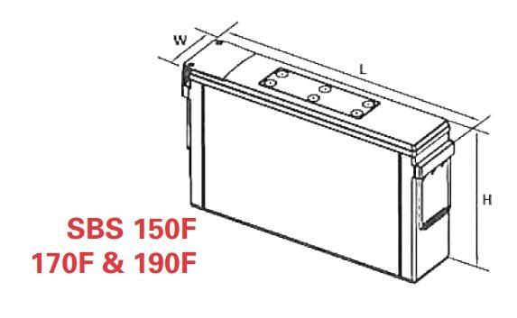 vrla battery powersafe sbs eon 12v 190 ah sbs 190f